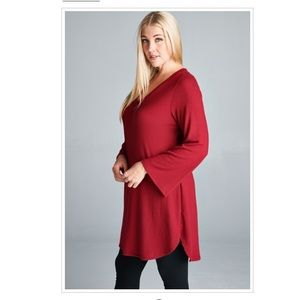 Plus Size Bell Sleeves Soft Touch Sweater Dress